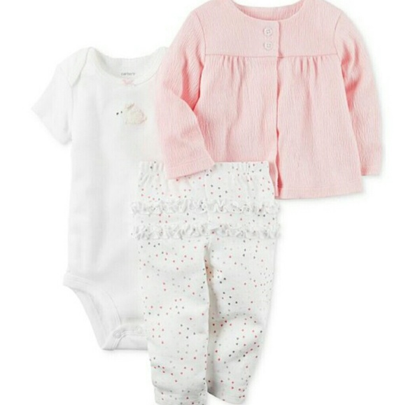 82ea4a009 Carter's Matching Sets | Nwot Carters Baby Girls 3 Piece Bunny ...